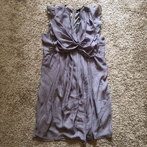 NWT RYU: Tan/Purple Ruffles Dress (Anthropologie)